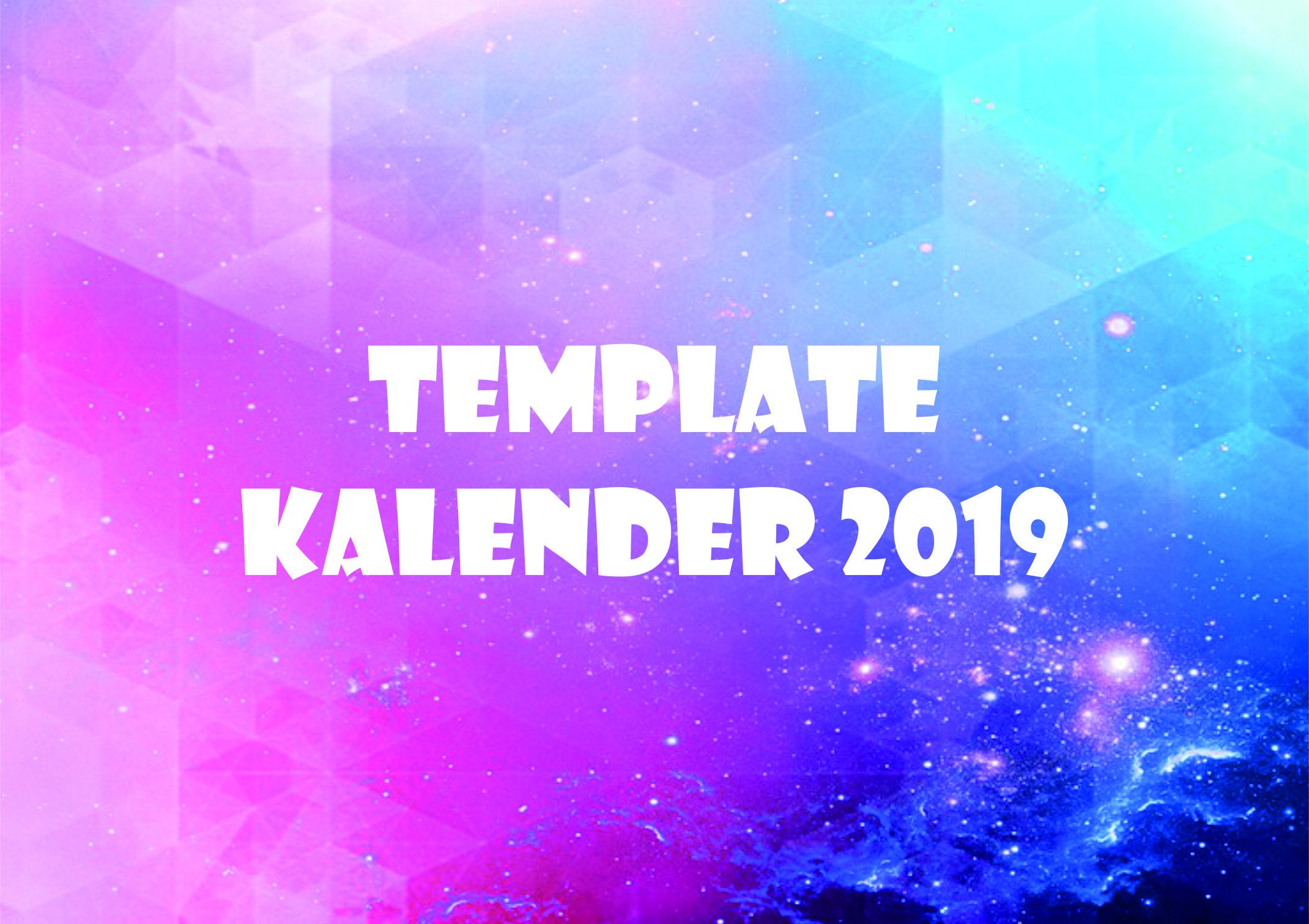 template kalender 2019