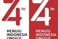 logo hut RI kemerdekaan indonesia ke 74